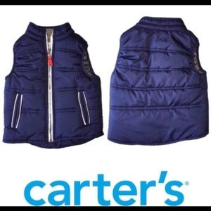 Sleeveless Puffer Vest Navy Blue CARTER'S 24 mos.